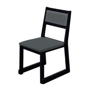 椅子室町高テーブル椅子(横張り)レザー・グレー[44x50xH79xSH43cm]木製品(7-771-7)料亭旅館和食器飲食店業務用