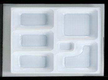 幕の内弁当 W-5 尺1寸長手P.S白仕切薄型 1梱 1600枚入り P.S (7-444-5) 【料亭 旅館 和食器 飲食店 業務用】