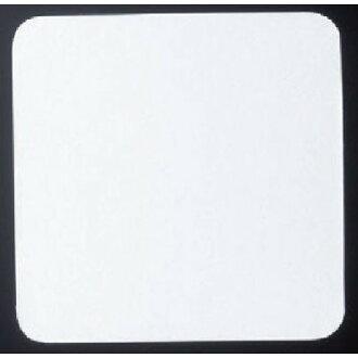 紙做的杯墊方形杯墊白色固體 (厚出口) (100 件) [9 × 9 釐米] (7-971-5) 的餐廳,旅館日本食品商店商務文書