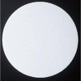 本文杯墊圓形杯墊白色固體 (厚出口) (100 件) [直徑 9 釐米] (7-971-6) 蓼訂旅館日本儀器餐飲存儲商業