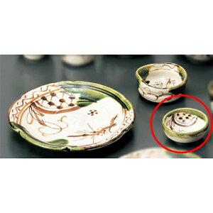 和陶オープン織部鉄絵平盃[7.8×h3.5cm]料亭和食器業務用飲食店