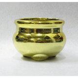 仏壇用 香炉 金 2寸[直径6.5cm高さ5cm] 【線香立 ゴールド 仏具 お盆 供養 お寺】