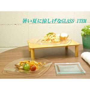 ガラス角皿シャルロット13cmスクエアープレート[縦13x横13x高さ0.8cm]|ガラス皿四角プレート限定数厳選商品数量限定食器かわいい綺麗洋食器レストランプレゼントギフト出産祝い結婚祝い縁起物引き出物