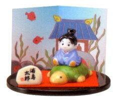 彩絵浦島太郎(陶器/五月人形)