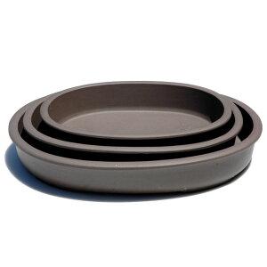 【清峰造】11号縁付浅小判三組【和風植木鉢 ミニ盆栽鉢 陶器 磁器】