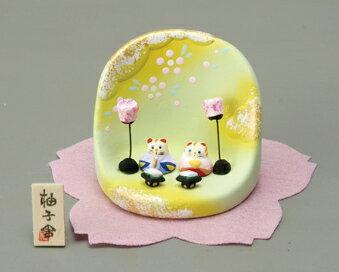 ねこ ミニ雛     【出産祝い/陶器/桃の節句/雛祭り/内祝い/誕生日/お祝い/お雛様/お雛さま】