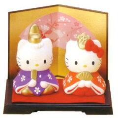 【雛人形/ひな人形】ハローキティ内裏雛(陶器)