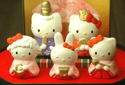 【雛人形/ひな人形】ハローキティ雛飾りセット(在庫処分)