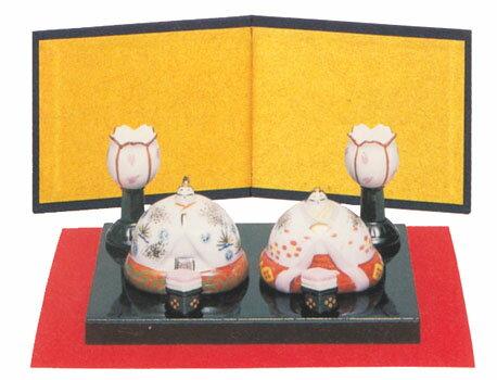 丸雛 親王飾 赤絵 出産祝 陶器 桃の節句 雛祭 内祝 誕生日 お雛様 お雛さま おひな様 雛人形 ひな人形