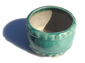 陶翠緑釉タイコ