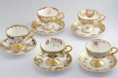 オールドノリタケの画帖から選んだモチーフを、現代の感覚で5柄の碗皿に甦らせました。ノリタケ...