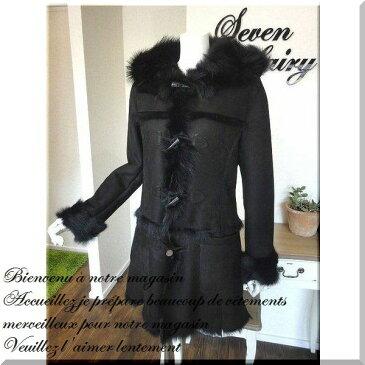 ムートン コート ムートンコート ファー 羊革 毛皮 ジャケット ダッフルコート mouton coat / 1309241 ムートン ダッフル コート レディース 女性用 婦人 大きいサイズ リアル 送料無料 05P03Dec16