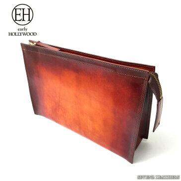 ◆アーリーハリウッド EARLYHOLLYWOOD バッグ クラッチバッグ メンズ レディース 手染め ビジネスバッグ レザー 牛革 日本製 eh-darling