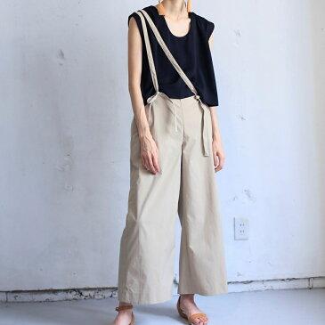 (P+)you ozeki 3wayパンツ yo19s10 color:beige size:f ユウオゼキ フリーサイズ ワイドパンツ サスペンダー 大人カジュアル レディースファッション