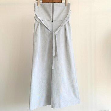 (P+)you ozeki 3wayパンツ yo19s10 color:sax size:f ユウオゼキ フリーサイズ ワイドパンツ サスペンダー 大人カジュアル レディースファッション
