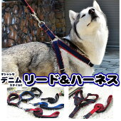 犬猫ハーネスリードペットデニム胸あてベスト胴輪キャットドッグメッシュh0160