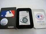 【新品】2000年製平成12年ZippoジッポーMLBSEATTLEMARINERSシアトルマリナーズオイルライターシルバー鏡面メジャーリーグベースボール野球