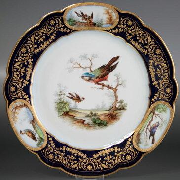 セーブル 飾り皿鳥たちのデュプレシスK38陶磁器 フランス SEVRES