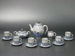 【幻の陶磁器と称されるフランスの国窯セーブル(SEVRES)】セーブルコーヒーセットクロード(6人...
