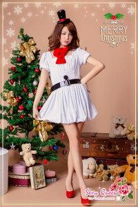 雪だるまコスチュームクリスマスコスプレ雪だるまクリスマスオラフ風コスチュームスノーマンコスプレ衣装仮装レディース女性用大人ワンピ?スサンタコスプレパーティドレス雪クリスマスコスプレ通販サンタ2017あす楽対応ゆうパケット不可