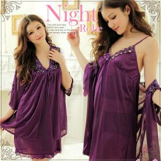 不可能女内衣房間服裝睡衣多爾女袍大褂安排紫色睡袍babydoll Lingerie促銷性感小孩6,000日元