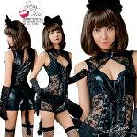 コスプレ猫セクシー猫耳ブラックキャット黒猫コスチューム大人女性コスプレ衣装レディースキャットアニマル