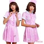 コスプレナースコスプレ衣装ナース服セクシー衣装女性ハロウィンコスチューム衣装レディース看護婦医者女医ミニワンピピンク大人cosplayhalloweencostumeコス通販大人用