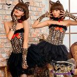 コスプレハロウィンネコ猫仮装ねこセット全身コスチューム衣装バニーガール猫耳ねこ耳レオパード豹レディース仮装halloweencosplaycostume