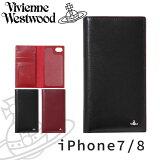 ヴィヴィアンウエストウッド レディース iPhoneケース 手帳型 iPhone7/8 牛革 SIMPLE TINY ORB 3918D7B