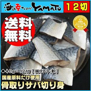 【送料無料】骨取りサバの切り身40g×12切れ※個別冷凍さば/鯖/魚/つまみ/お手軽/サバサン…