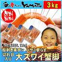大ズワイ蟹脚 総重量3kg (NET2.55g) 殻むき楽チ...