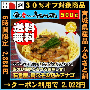 希少な石巻産の刻みアナゴ!穴子飯 約8杯分!たっぷり500g今なら宮城ふるさと割クーポンで30%OF...