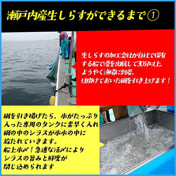 生しらす200g 無添加 瀬戸内産 海鮮丼に 冷凍食品 無着色 シラス【クーポンで580円OFF】