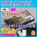 オリジナル モバイルバッテリー 両面印刷【大容量4000mA...
