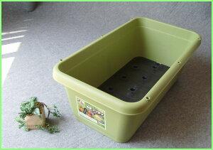 小さいスペースで野菜栽培が楽しめます。便利なスノコ・ポリ栓付き。支柱用穴(5.5mm)有り。グリ...