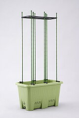 頑丈で多機能「楽々菜園」深型600支柱用フレーム付き。(支柱はセットに含まれません)プランタ...