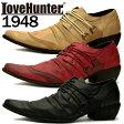 メンズ シューズ[LOVEHUNTER ラブハンター]お兄系バターナイフレースアップシューズ1948 メンズ ポインテッド レザー 短靴 靴 お兄系 メンナク【あす楽】【02P03Dec16】