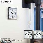 【レビューでクーポンプレゼント】HERMOSAハモサHKSQUARECLOCKスクエアクロックHK-002BKHGY掛け時計おしゃれ壁掛け時計クロックシンプルプレゼント日本製かわいいヴィンテージインテリア時計