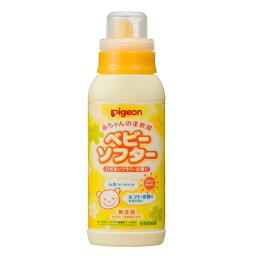 《ピジョン》 赤ちゃんの柔軟剤 ベビーソフタ— ひだまりフラワーの香り 600mL
