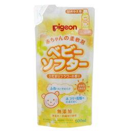 《ピジョン》 赤ちゃんの柔軟剤 ベビーソフタ— ひだまりフラワーの香り 詰めかえ用 500mL