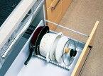 引き出し式 扉タイプ 流し台の収納に! フライパン・鍋・ふた スタンド (sn-PFN-EX) フラインパン 鍋 ふた 収納 【伸縮タイプ】重ねる物を「立てて置く」毎日使う物だから、便利に使いたい!