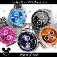 ミッキー生誕80周年記念回転ベゼル腕時計