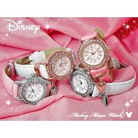 ミッキーマウスハートチャーム腕時計