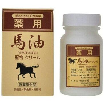 ジュン・コスメティック 純薬 薬用 馬油配合クリーム 70g
