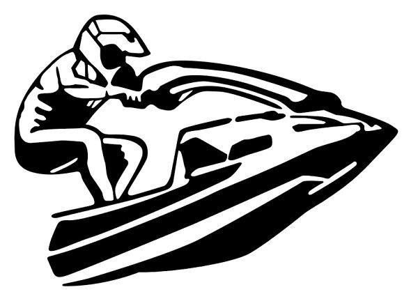 ジェット・スキーステッカー車かっこいいおしゃれバイクヘルメットタンクシールタトゥー