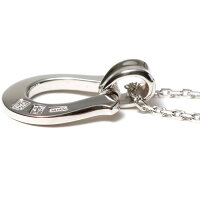 SYMPATHYOFSOULシンパシーオブソウルHorseshoeLargePendant-Silver×SilverSquareCableChain1.6mmHookホースシューラージチェーンセットネックレス【正規商品公式通販】