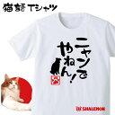 ねこ おもしろTシャツ アニマル【ニャンでやねん!】選べる6色 おもしろ Tシャツ メンズ レディース キッズ プレゼント 猫カフェ ネコ 雑貨 しゃれもん