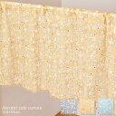 インド綿 カフェカーテン アクロティリ つばめとお花モチーフ 植物 110×45cm エスニック 間仕切り アジアンに模様替え