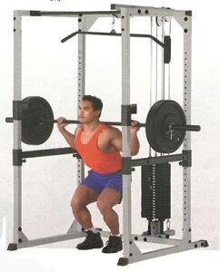 【ジムマシン】高重量のバーベルを安全に、効果的に使う器具【パワーラック】 Bodysolid ボデ...