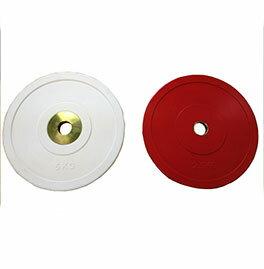 【オリンピックプレート】BULL Φ50mmパフォーマンスプレート2.5kg(赤)(2枚1組) BL-PMP2.5:フィットネス「シェイプショップ」